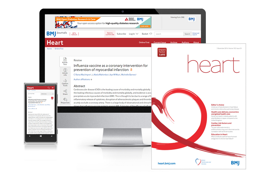 Desktop and mobile showing the Heart website and Heart journal cover