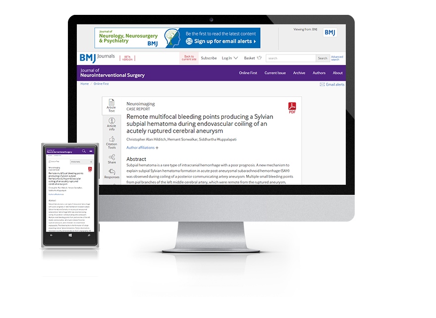 Desktop and mobile showing the JNIS website and JNIS journal cover