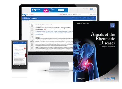 Subscribe your institution to the online & print versions of Annals of Rheumatic Diseases (ARD)