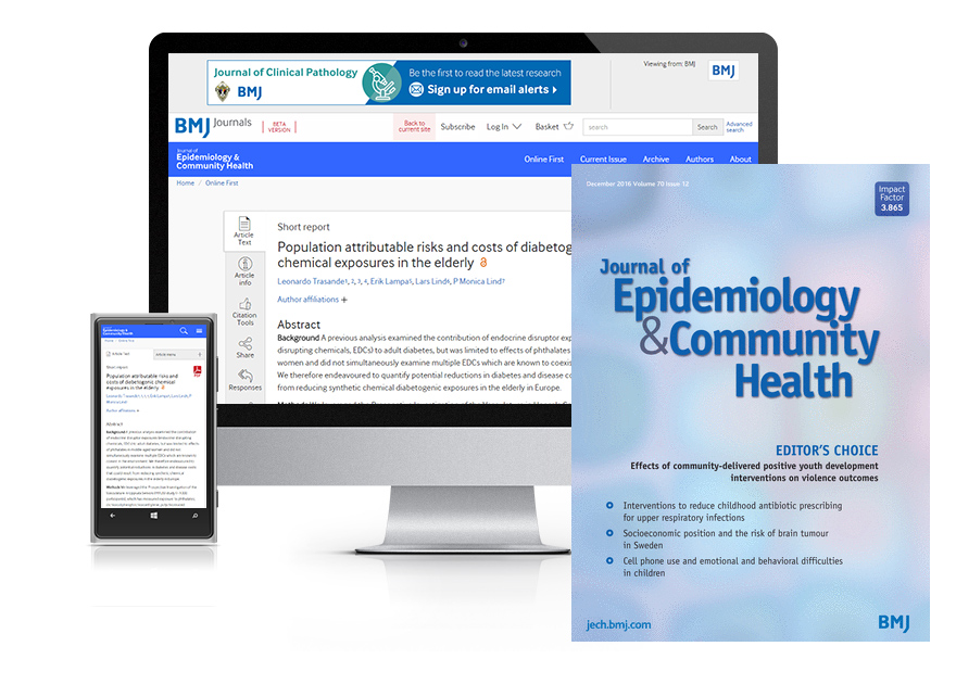Desktop and mobile showing the JECH website and JECH journal cover