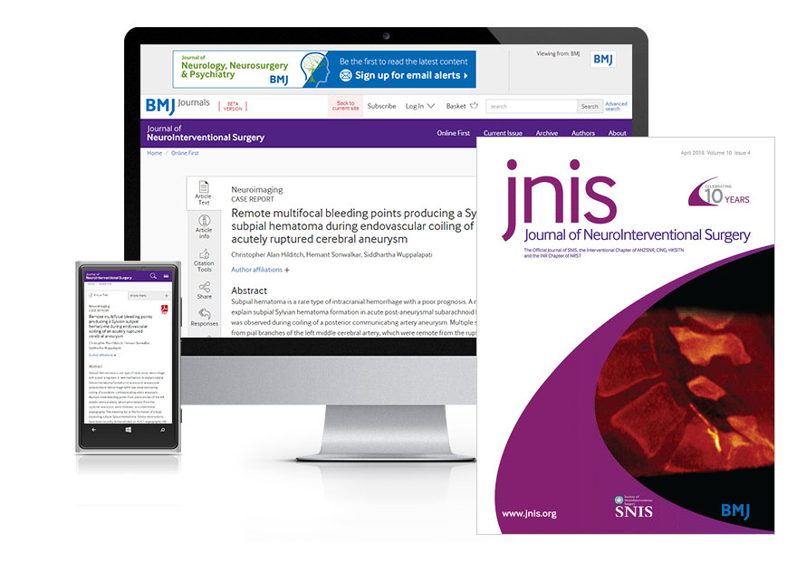 Subscribe your institution to the online and print versions of JNIS