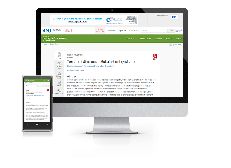 Subscribe your institution to the online version of JNNP