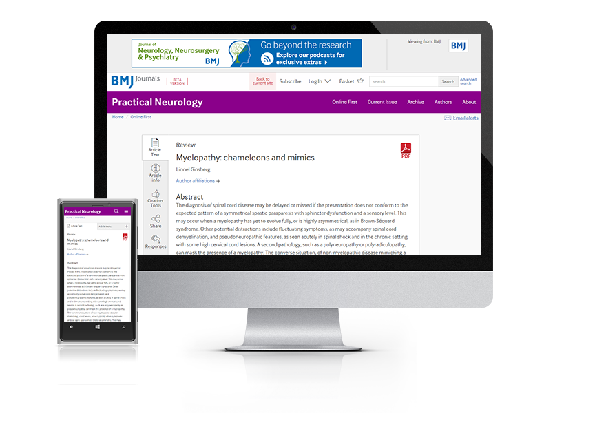 Desktop and mobile showing the PN website and PN journal cover